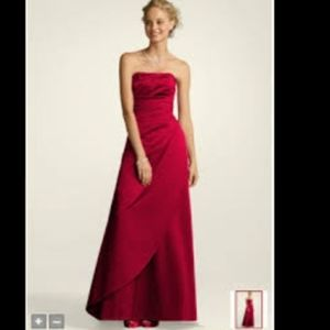 David's bridal prom dress strapless